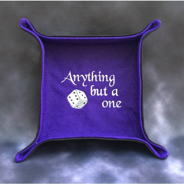 Anything But a One Purple Dice Tray